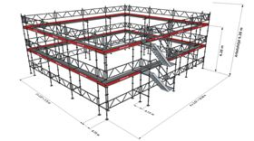 Bild på Modul Lilla villan (223 m²) med Dubbelräcke