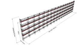 Bild på Modulställningspaket (501 m²) med Dubbelräcke