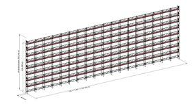 Bild på Modulställningspaket (1006 m²) med Dubbelräcke