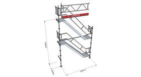 Bild på Trapptorn till modulställning 2 våningar med Dubbelräcke