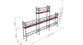 Bild på Modulställningspaket 4 (9x4 med topp) med Dubbelräcke