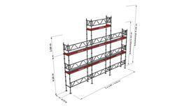 Bild på Modulställningspaket 12 (9x6m + topp) med Dubbelräcke